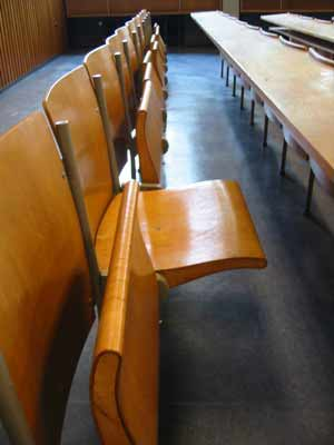 empty auditorium chairs